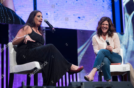 Jennifer Rudolph Walsh, Maysoon Zayid. Jennifer Rudolph Walsh, right, laughs along with Maysoon Zayid during an interview at Together Live on in Washington