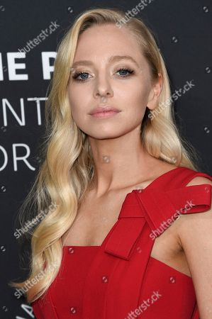 Portia Doubleday attends Paley Center's LA Gala Celebrating Women in Television at the Beverly Wilshire Hotel, in Beverly Hills, Calif
