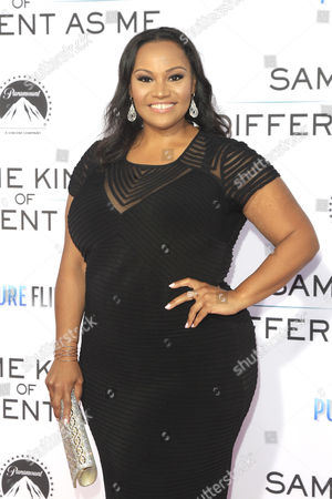 Stock Photo of US actress/cast member Dana Gourrier arrives for the premiere of Paramount Pictures and Pure Flix Entertainment's 'Same Kind Of Different As Me' at the Regency Village Theater in Westwood, Los Angeles, California, USA 12 October 2017. The movie opens in the US 20 October 2017.