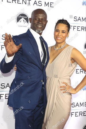 US actor/cast member (L-R) Djimon Hounsou and US actress Daphne Wayans arrive for the premiere of Paramount Pictures and Pure Flix Entertainment's 'Same Kind Of Different As Me' at the Regency Village Theater in Westwood, Los Angeles, California, USA 12 October 2017. The movie opens in the US 20 October 2017.