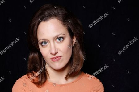 """Actress Anna Rose Hopkins poses for a portrait to promote the film, """"Dark Night"""", at the Toyota Mirai Music Lodge during the Sundance Film Festival on in Park City, Utah"""