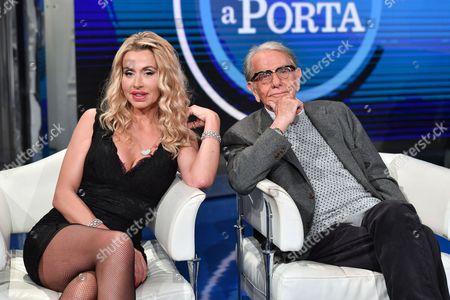 Valeria Marini with Enrico Lucherini