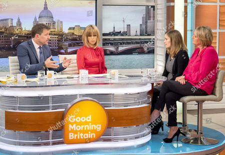 Ben Shephard and Kate Garraway with Laura Bates and Sue Hill