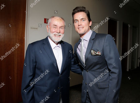 Robert David Hall, left, and Matt Bomer attend the 35th College Television Awards, presented by the Television Academy Foundation at The Leonard H. Goldenson Theatre in the NoHo Arts District, in Los Angeles
