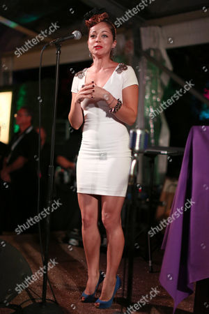 Chef Marcela Valladolid speaks at Breeders' Cup A Taste of the World at The Huntington, in San Marino, Calif