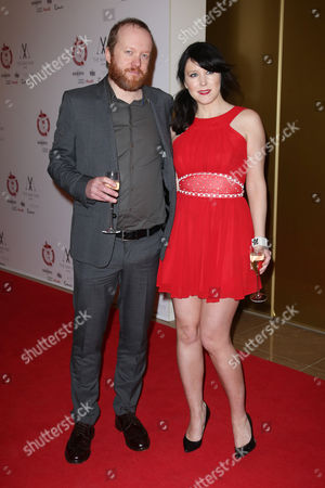 Actors Steve Oram and Alice Lowe arrive at the May Fair Hotel in central London, for the London Critics Circle Film Awards