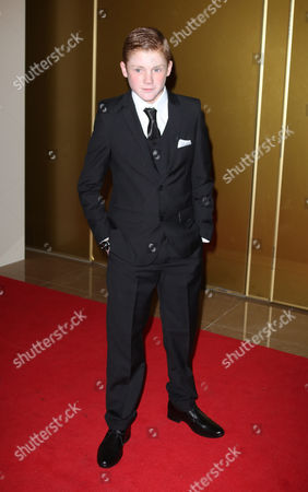 Stock Image of Corey McKinley arrives at the May Fair Hotel in central London, for the London Critics Circle Film Awards