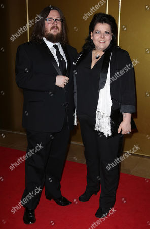 Stock Photo of Iain Forsyth and Jane Pollard arrive at the May Fair Hotel in central London, for the London Critics Circle Film Awards