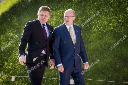 Bohuslav Sobotka and Robert Fico