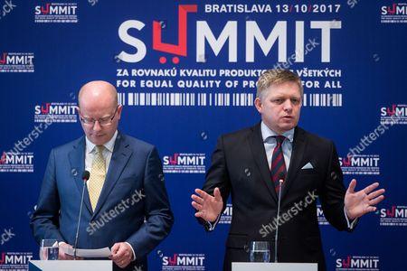 Robert Fico and Bohuslav Sobotka