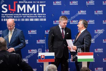 Bohuslav Sobotka, Robert Fico and Viktor Orban