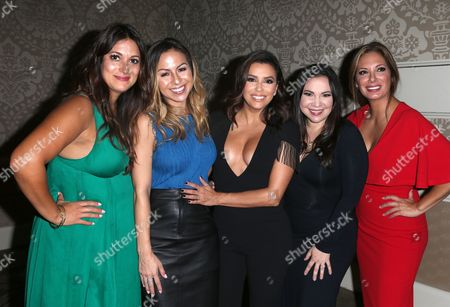 Angelique Cabral, Anjelah Johnson, Eva Longoria, Gloria Calderon Kellett and Alex Meneses