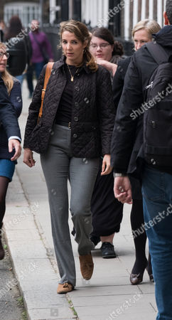 Stock Image of Tessy Antony arrives outside the High Court for her divorce from Prince Louis of Luxembourg