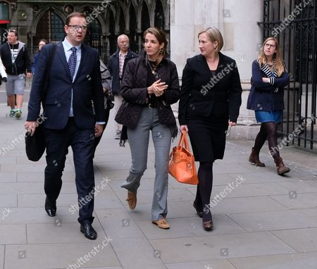 Stock Picture of Tessy Antony arrives outside the High Court for her divorce from Prince Louis of Luxembourg