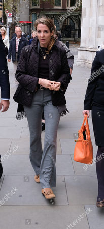 Tessy Antony arrives outside the High Court for her divorce from Prince Louis of Luxembourg