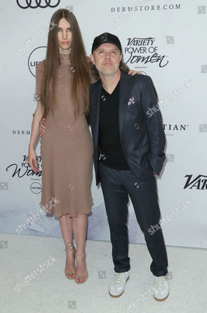 Jessica Miller and Lars Ulrich