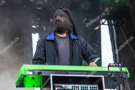 Ethan Kath of Crystal Castles performs at the Austin City Limits Music Festival at Zilker Park, in Austin, Texas