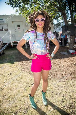 Valerie June poses at the Austin City Limits Music Festival at Zilker Park, in Austin, Texas
