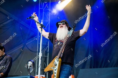Dave Catching of Eagles of Death Metal performs at the Austin City Limits Music Festival at Zilker Park, in Austin, Texas