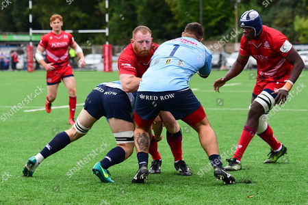 Stock Picture of Jack O?Connell of Bristol United is tackled by Chris Phillips of Cardiff Premiership Select
