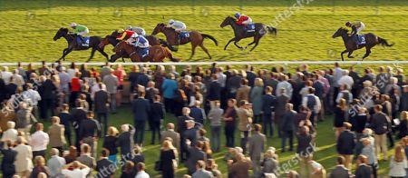 Stock Picture of EARTHA KITT (Richard Kingscote) wins The Darley EBF Stallions Boadicea Stakes Newmarket