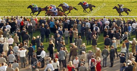 Stock Image of EARTHA KITT (Richard Kingscote) wins The Darley EBF Stallions Boadicea Stakes Newmarket