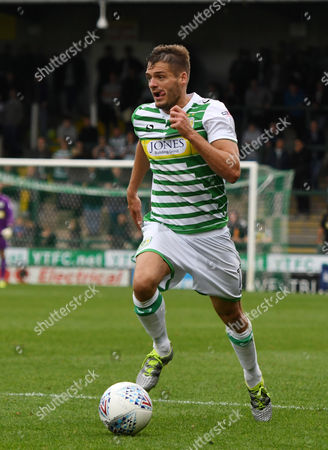 Ryan Dickson of Yeovil Town, during the Sky Bet League 2 match between Yeovil Town and Crewe Alexandra, at Huish Park, Yeovil, Somerset, on October 14th 2017,