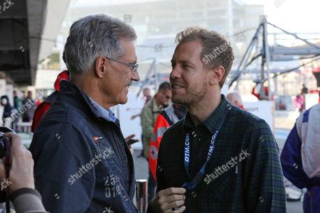 Stock Photo of Dr. Mario Theissen, Sebastian Vettel