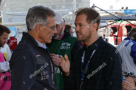 Stock Image of Dr. Mario Theissen, Sebastian Vettel