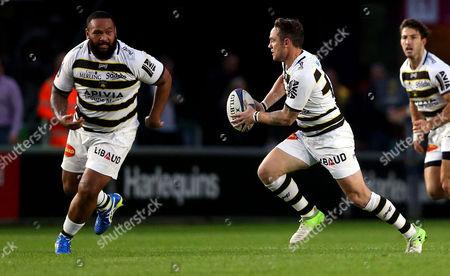 Ryan Lamb of La Rochelle breaks with the ball