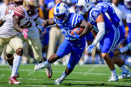 Duke running back Shaun Wilson (29) during the NCAA college football game between Florida State and Duke on at Wallace Wade Stadium, in Durham, NC