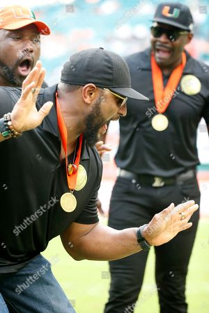 Michael Irvin, Warren Sapp, Ray Lewis. Ray Lewis, foreground, Warren Sapp, left rear, and Michael Irvin, right, react during a ring of honor ceremony at the halftime an NCAA College football game between Miami and Georgia Tech, in Miami Gardens, Fla. Irvin, Sapp, Ed Reed, Lewis and Sean Taylor were inducted into Miami's ring of honor. Irvin (2007) and Sapp (2013) got in the Pro Football Hall of Fame before they made their school's ring of honor