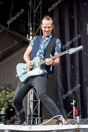 Stock Photo of Tom Dumont of Dreamcar performs at the Austin City Limits Music Festival at Zilker Park, in Austin, Texas