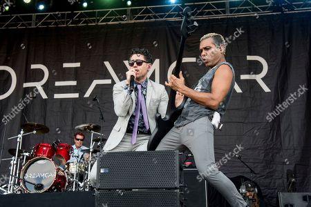 Davey Havok, Tony Kanal. Davey Havok, left, and Tony Kanal of Dreamcar perform at the Austin City Limits Music Festival at Zilker Park, in Austin, Texas