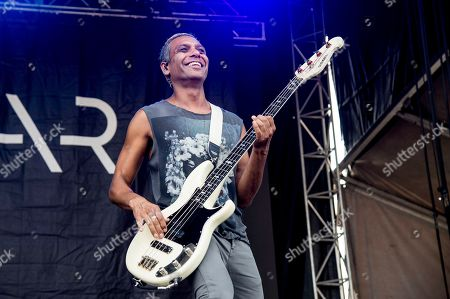 Tony Kanal of Dreamcar performs at the Austin City Limits Music Festival at Zilker Park, in Austin, Texas