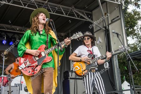 Matthew Paige, Dylan Whitlow. Matthew Paige, left, and Dylan Whitlow of the Blackfoot Gypsies perform at the Austin City Limits Music Festival at Zilker Park, in Austin, Texas