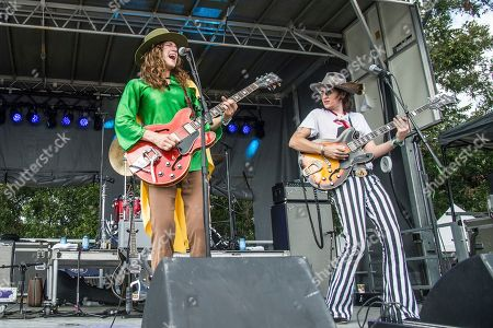 Stock Photo of Matthew Paige, Dylan Whitlow. Matthew Paige, left, and Dylan Whitlow of the Blackfoot Gypsies perform at the Austin City Limits Music Festival at Zilker Park, in Austin, Texas