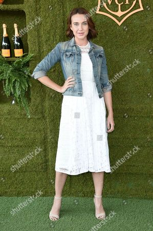 Anna Schafer attends the 8th Annual Veuve Clicquot Polo Classic at Will Rogers State Park, in Los Angeles