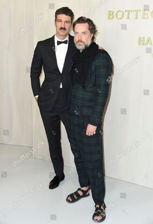 Jorn Weisbrodt, Rufus Wainwright. Jorn Weisbrodt, left, and Rufus Wainwright arrive at the 15th annual Hammer Museum Gala in the Garden, in Los Angeles
