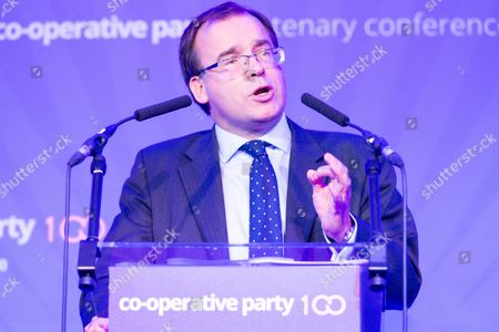 Gareth Richard Thomas the Co-OP Chairman makes a speech at the Co-operative Party's 'Ideas to Change Britain' 100th Centenary Anniversary Conference.