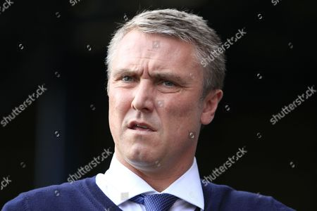 Bury manager Lee Clark during the EFL Sky Bet League 1 match between Bury and Bradford City at the Energy Check Stadium at Gigg Lane, Bury