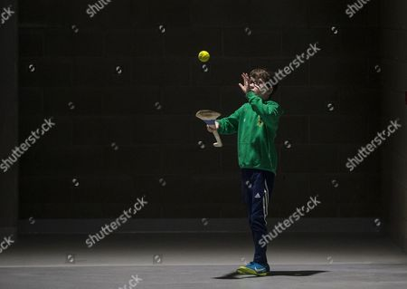 Nemo Rangers vs St. Finbarrs . Conor Kennedy, age 9, from Passage West, Cork, practicing his skills inside Pairc Ui Chaoimh ahead of today's finals