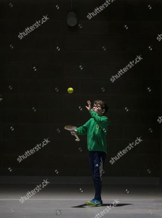 Nemo Rangers vs St. Finbarrs . Conor Kennedy, age 9, from Passage West, Cork, practicing his skills inside Pairc Ui Chaoimh ahead of today's finals.
