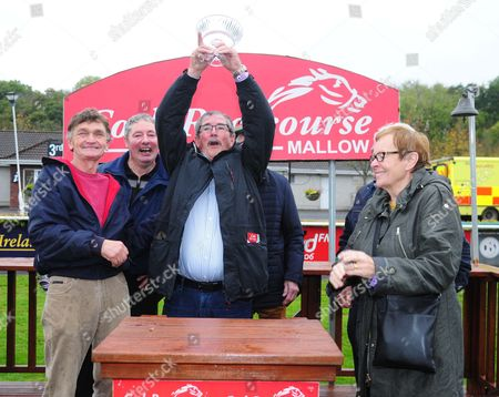 CORK Owner Tom McNulty with his prize after GRANNY BIDDY won the Rockmills Limestone & Tom Lynes Plant Hire Supporting the Rickie Healy Appeal Handicap Hurdle. HEALY RACING