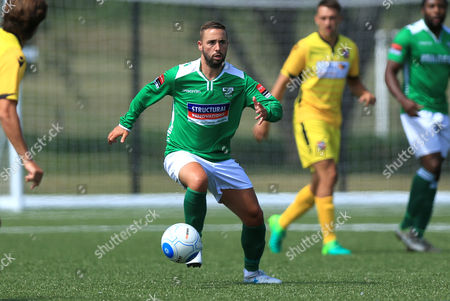 Leatherhead player manager Sammy Moore on the ball during Leatherhead vs Bromley, Friendly Match Football at Fetcham Grove on 8th July 2017