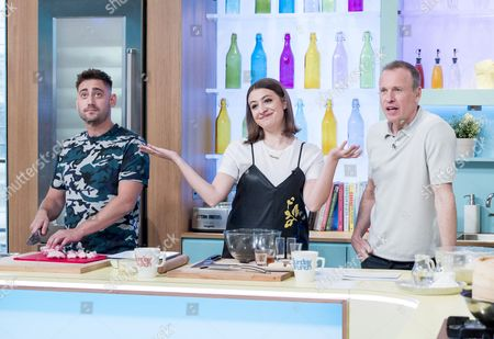 Michael Socha, Georgia Groome and Tim Lovejoy