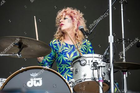 Julie Edwards of Deap Vally performs at the Austin City Limits Music Festival at Zilker Park, in Austin, Texas