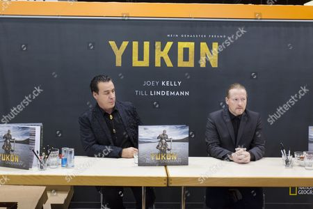 Stock Image of Till Lindemann, Joey Kelly