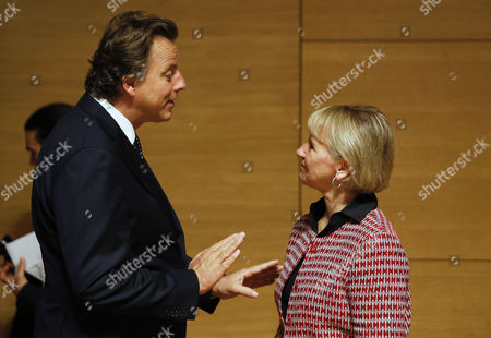 Stock Photo of Bert Koenders and Margot Wallstrom