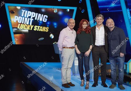 Stock Picture of (Sun 29th Oct 2017) - (l-r) Alistair Stewart, Amy Childs, Host Ben Shephard and Bob Mortimer
